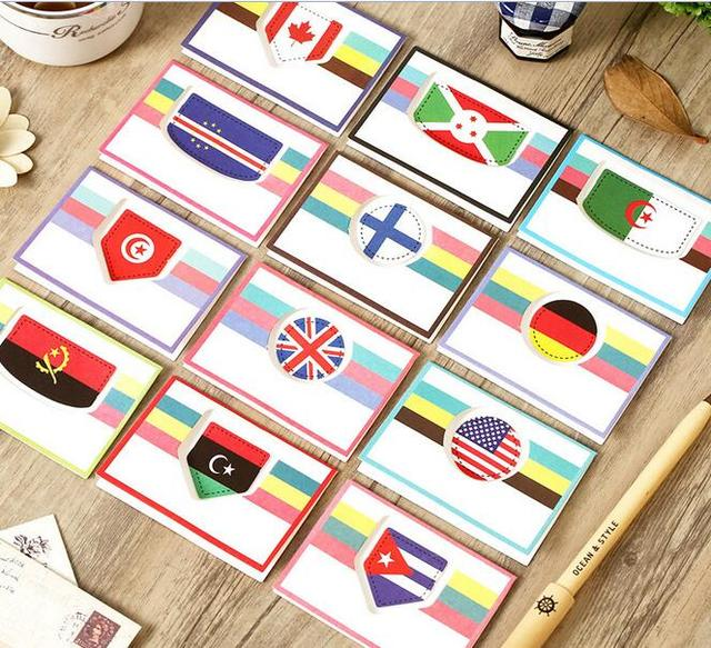 Hot selling business cards 12 stylediy retro national flag mini hot selling business cards 12 stylediy retro national flag mini greeting card set with reheart Gallery