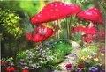 300 Шт. Масляной Живописи Красный Marshroom Головоломки Бумаги Головоломки 300 шт. бесплатные ежедневные головоломки С Бесплатной Доставкой