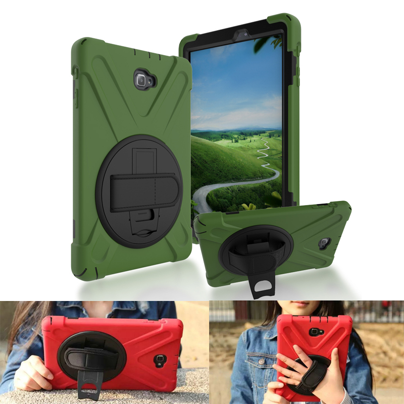Case for iPad 6 Air 2 360 Degree Rotating Rugged Shockproof with Built-in Kickstand PU Silicon Hand Strap Case Cover Alabasta a7220 usb built in mic 360° rotating web camera for pc laptop