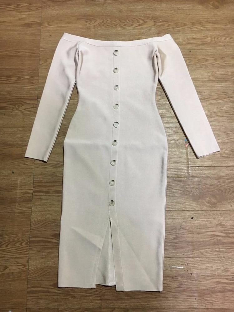 2018 Gros longueur En Beige Briller Nouvelle De Arrivée À Genou Femmes Robe Badage Manches Beauté Mode Longues aaAw18