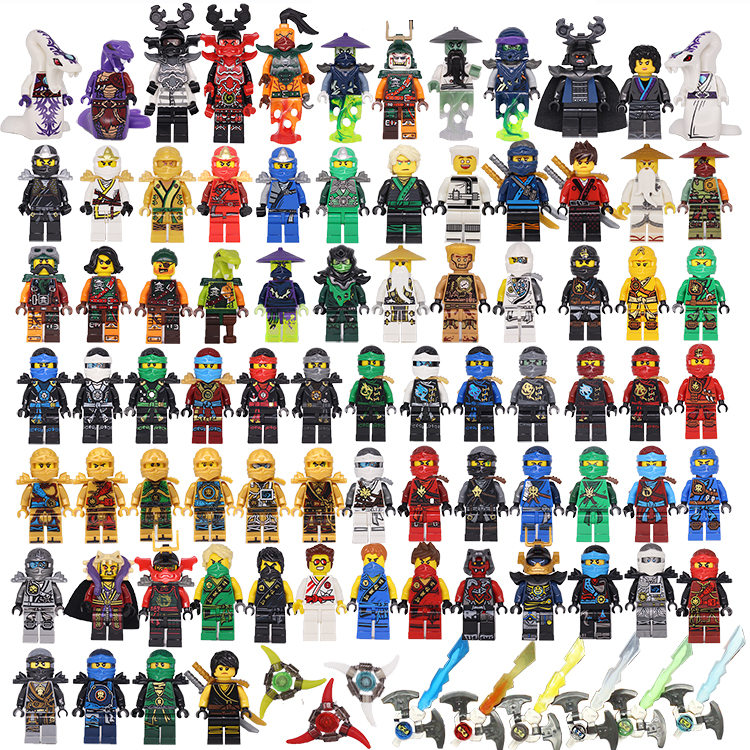 [Bainily] NINJA Heroes Kai Jay Cole Zane Nya Lloyd With Weapons Buliding Blocks Toy Sets Compatible With LegoINGlys ninjago lego ninjago набор ластиков kai nya 2 шт 51876