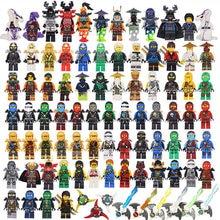 Bainily NINJA Heroes Kai Jay Cole Zane Nya Lloyd With Weapons Buliding Blocks Toy Sets