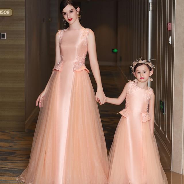 0ea80cbdb8 Mommy and Me Mother Daughter Baby Dresses Family Wedding Clothes Mom  Daughter Christmas Tutu Dress Princess Dress Model Show Set