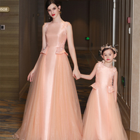 Mommy and Me Mother Daughter Baby Dresses Family Wedding Clothes Mom Daughter Christmas Tutu Dress Princess Dress Model Show Set