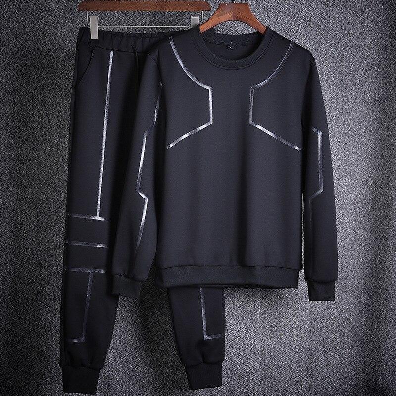 AmberHeard 2017 Fashion Autumn Men Sporting Suit Set Sweatshirts Pant Sweatsuit 2 Piece Set Tracksuit For