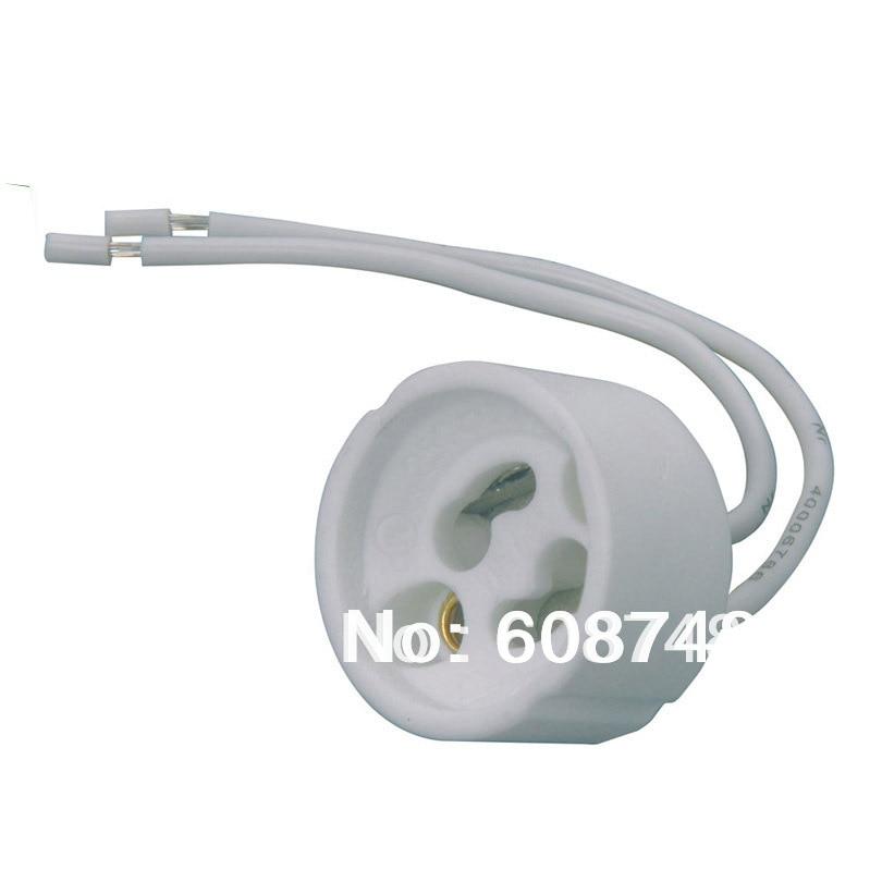 NEW GU10 Ceramic Sockets, Halogen, LED Bulb, Lamp Holder Down Light Fitting Base Free shippinglamp holderceramic socketsocket gu10 -