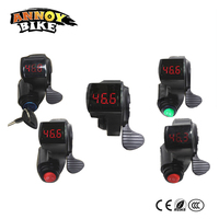 Electric Bike Finger Thumb Throttle With Key Switch 3 Speed Cruise Electric Display 22mm For Scooter Electric Bicycle Ebike