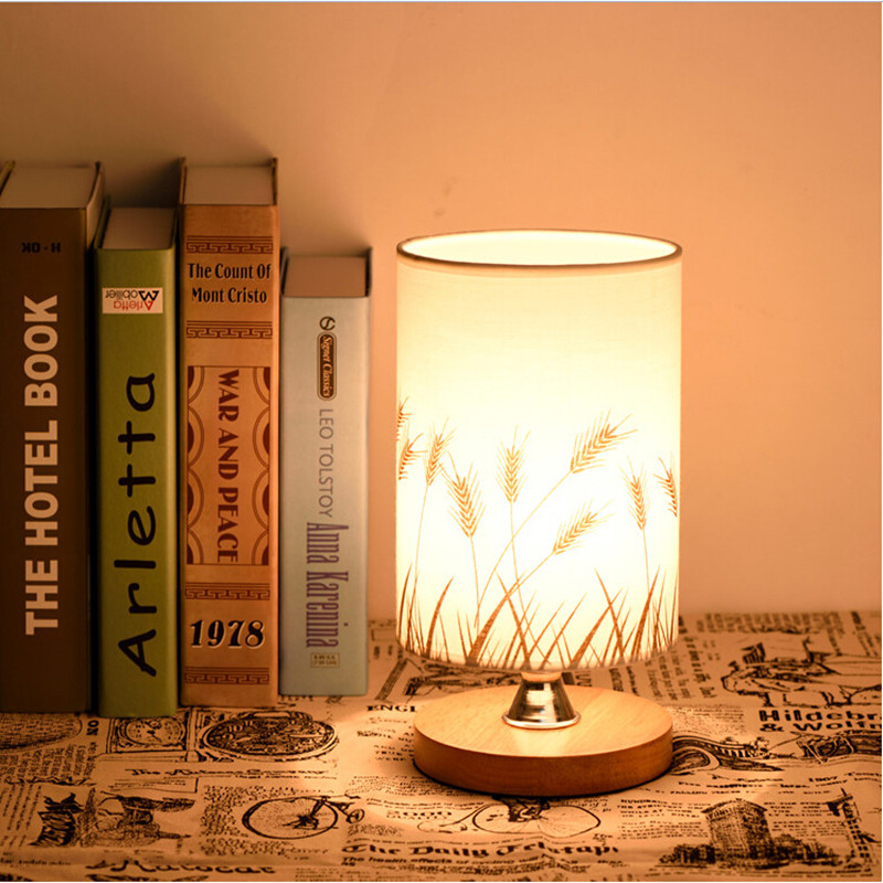 Commercial Table Lamps: Modern Europe Wood Flax Led E27 Table Lamp For Restaurant
