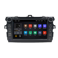 2 din Android 8.1 8 inch car dvd player radio 2din gps navigation for Toyota Corolla 2008 to 2009 2010 stereo 2011 on board with