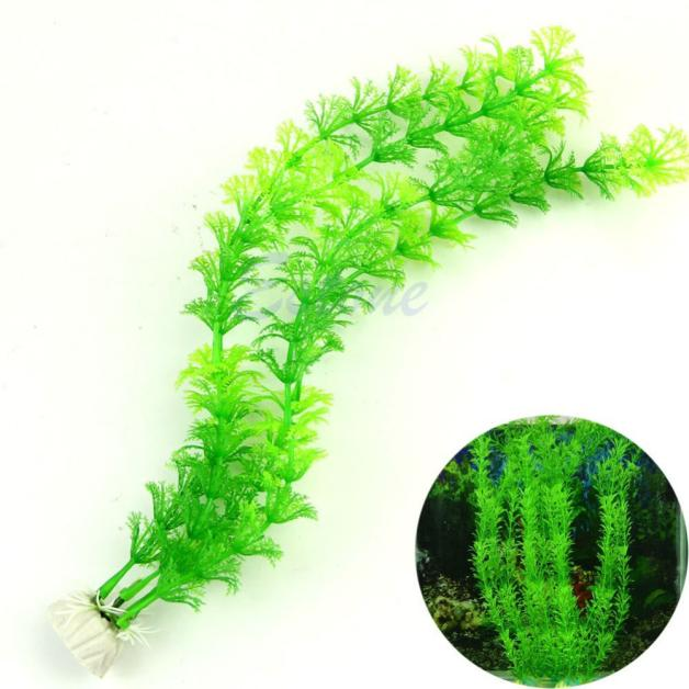 Drop Shipping 13 Plastic Artificial Grass Decoration Water Fish Tank