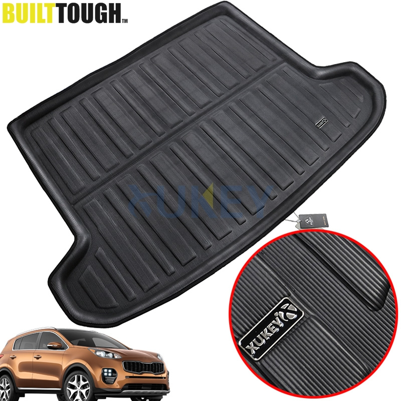 2011-2015 Volvo S60 OEM Black Molded Plastic Luggage Compartment Mat//Trunk Mat