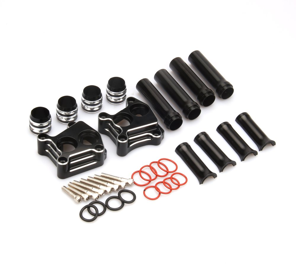 Motorcycle Parts CNC Set of Pushrod Cover and Lifter Block Cover for Harley 1999-2015 TWIN CAMS