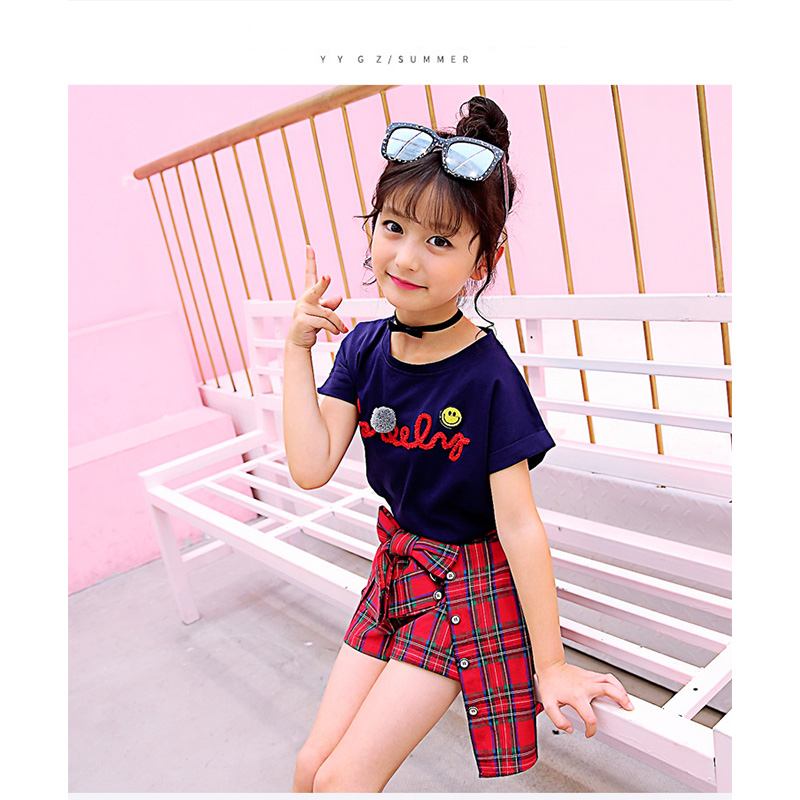 Girls Short Sets Summer Children Fashion Suit Clothes 2 pieces Cotton T  shirt+Striped Pant Skirt Size 5 6 7 8 9 10 Years Girls|Clothing Sets| -  AliExpress
