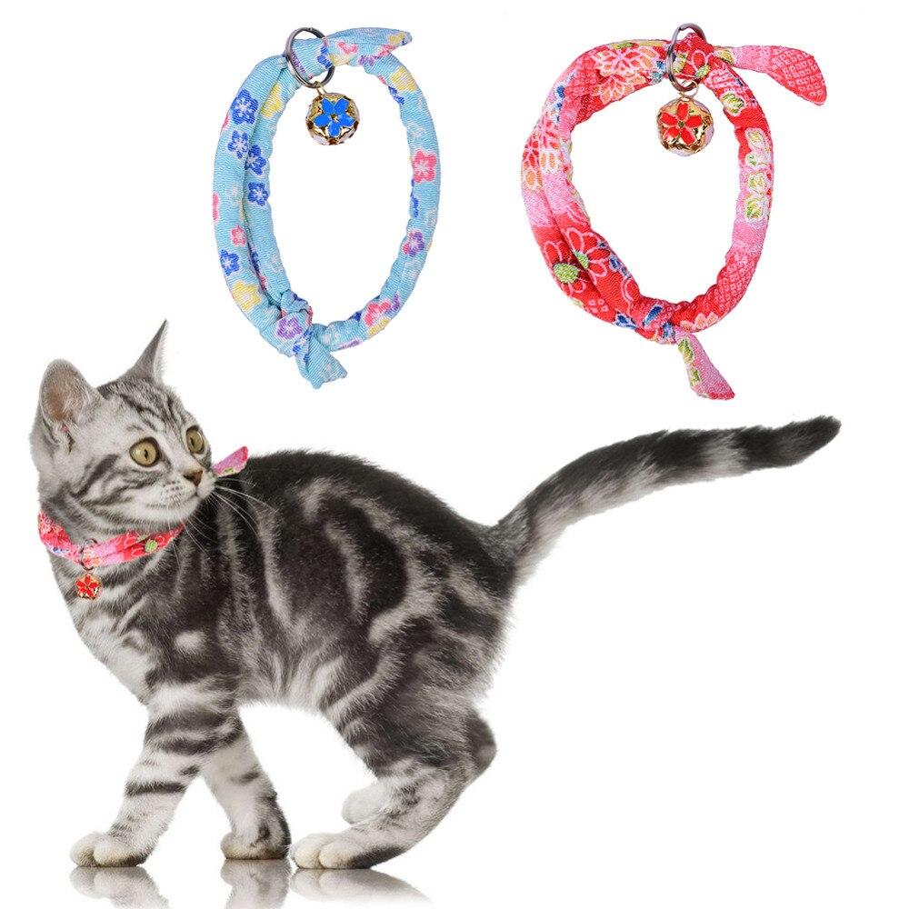 ₪Ajustable collar de perro de mascota paño corbata gato remache ...