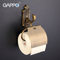 GAPPO 1 Set Wall Mount Stainless Steel Cover Toilet Paper Holder Antiquities Zinc Alloy Mounting Seat
