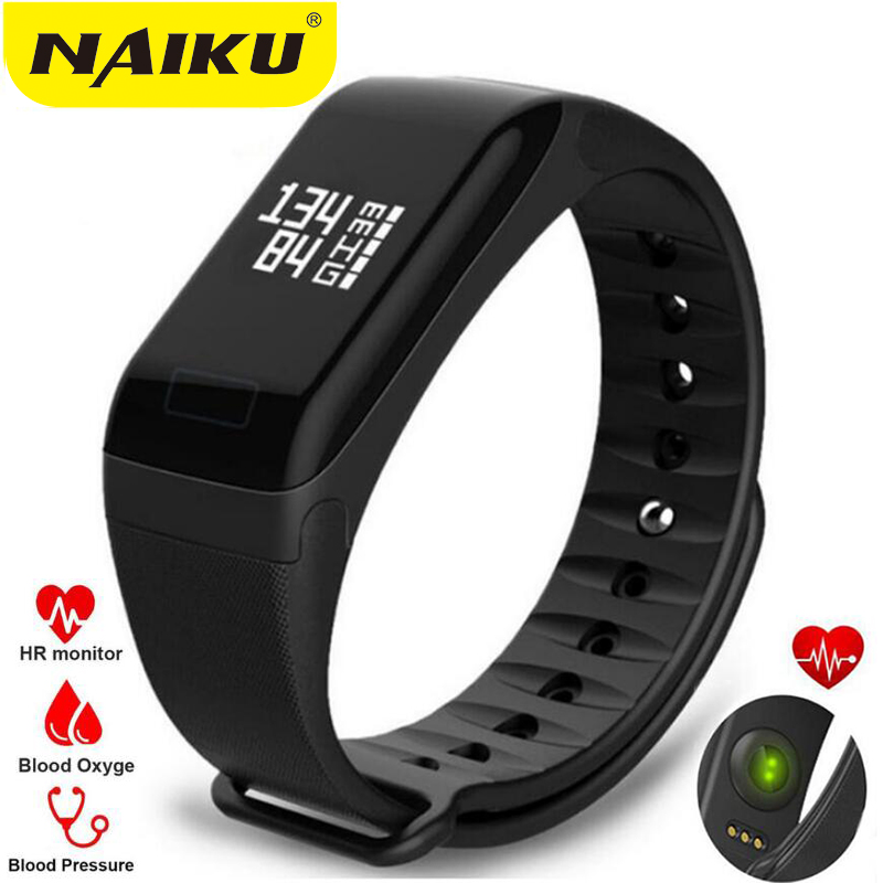 F1 Smart Band Blood Oxygen Blood Pressure Watches Fitness Sport Bracelet Heart Rate Monitor Call SMS Reminder for xiaomi iphone in Smart Wristbands from Consumer Electronics