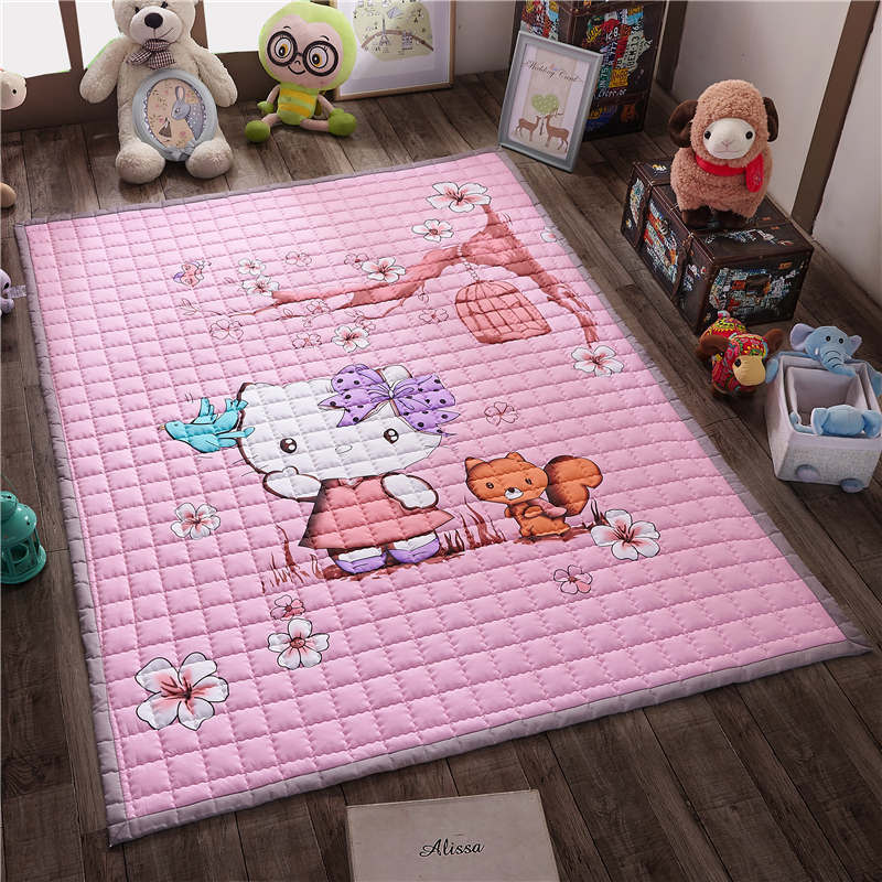 Carpet Floor Mat Bedroom Living Room Thickening Pure Cotton Crawling Pad Baby Climbing Autumn Anti Skid Game Blanke