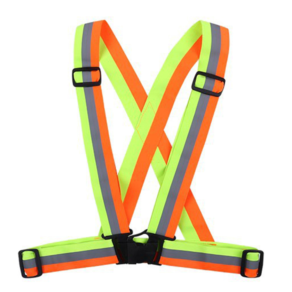 High Elastic Traffic Night Work Security Running Cycling Safety Reflective Vest Visibility Adjustable Strap Protective Device-in Reflective Safety Clothing from Automobiles & Motorcycles