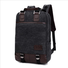 2016 New Men Canvas Bag Multifunctional Leisure Backpack Men and Women Computer Backpack