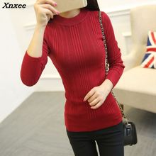 Korean new Turtleneck Shirt half female short sleeved turtleneck sweater slim thickening Xnxee