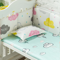 5pcs/set Quality Baby Bedding Set Thicken Bumpers In Baby Bed Cotton Newborns Crib Bedding Set Baby Cot Protect Bumpers+Sheet