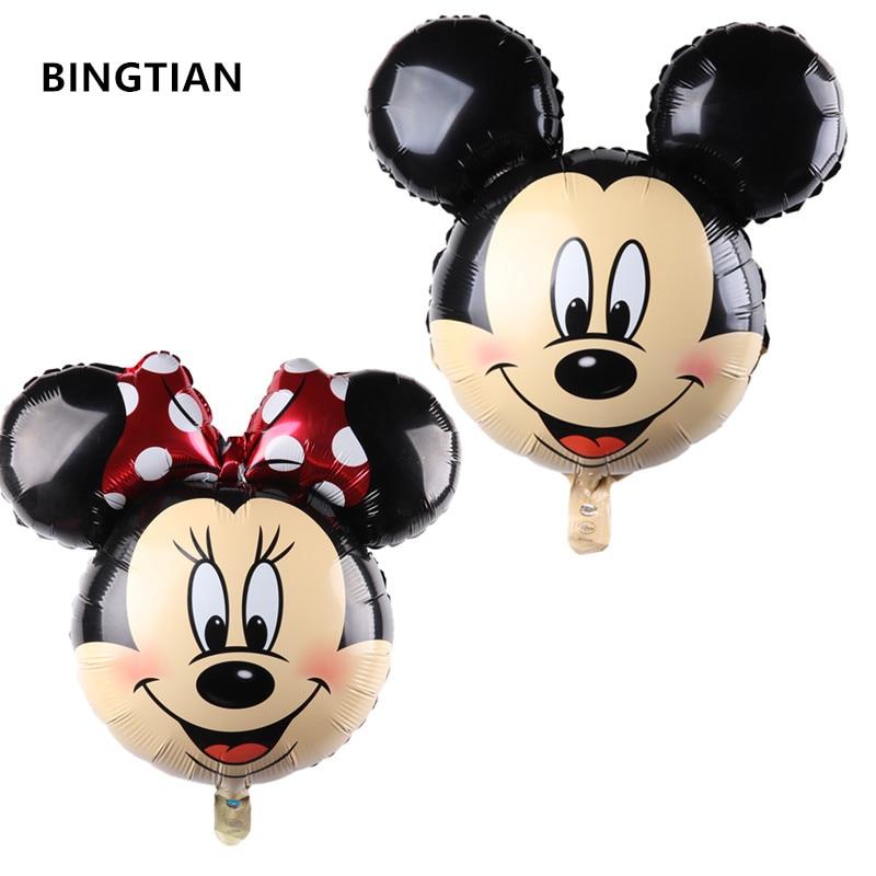 The new aluminum balloons Minnie Mickey head balloon Cartoon Birthday Party Wedding decorations children's toys