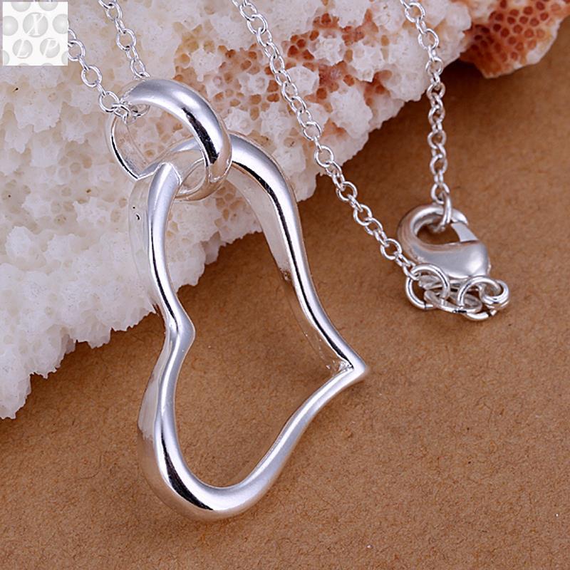 3b250ace6da8 Precio de fábrica de alta calidad de la joyería 925 colgante de plata  simple en forma de corazón colgante de plata p080
