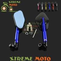 Niebieski 8mm 10mm Z Tyłu Widok Z Boku Lusterka Dla Yamaha GSXR ZX6R ER6N YZ125 YZ250 YZ450F WR250F Motocykl Skuter Ulicy rower