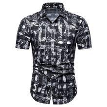 Hawaiian Shirt Casual Dress Blouse Mens Clothing Short sleeve Flower Men Beach style New Summer