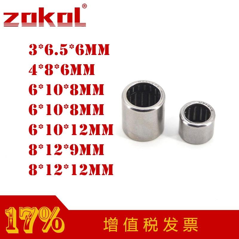 ZOKOL HF0306 HF0406 HF0608 HF0612 EWC0608 One Way Needle Roller Bearing 3*6.5*6mm 4*8*6mm 6*10*8mm 6*10*12mm