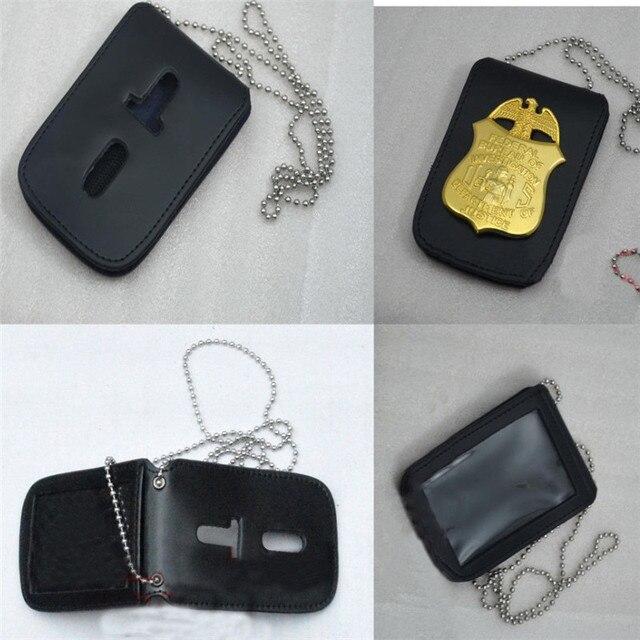 Takerlama Pcs En Cuir Universel Badgeholder Détective De La Police - Porte badge cuir