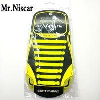 Mr Niscar 1 Set 16 Pcs Yellow Elastic Shoe Laces For Athletic Sport Shoes Children Adults