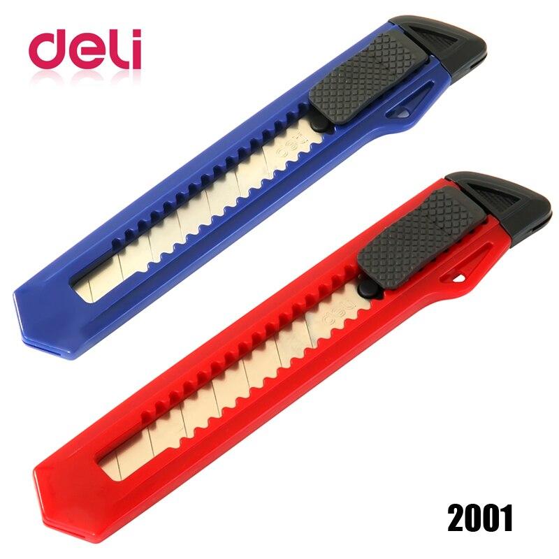 Deli 1pcs Large Utility Knife Auto-lock Paper Cutter Razor Blades Knife School Office Knife Diy Art Cutter Knife Tools 2001