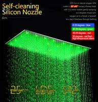 500x1000mm Large Size LED Temperature Control Color Change Ceiling Rain Shower Hydro Power LED Rain Shower Head