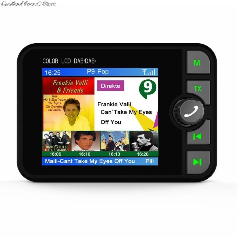 Mini adaptateur récepteur Radio numérique DAB coloré écran LCD Bluetooth MP3 transmetteur FM pour accessoires de voiture