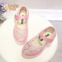 ربيع الخريف الاطفال أزياء الأميرة أحذية الفتيات الكورية الدانتيل جلد الطفل أحذية الرقص مسطحة المدرسة فتاة أحذية كبيرة و صغيرة