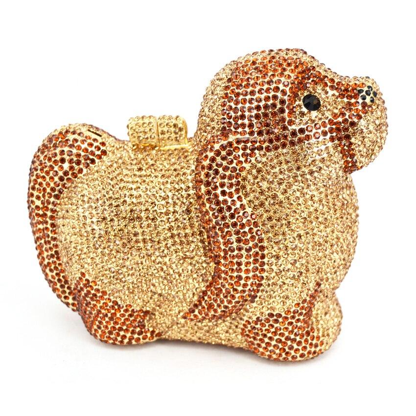 Здесь можно купить   Shih Tzu Clutches Metal dog Evening Bag for Lady Party Prom Soiree Purse Pochette Wedding bag 88369 Камера и Сумки