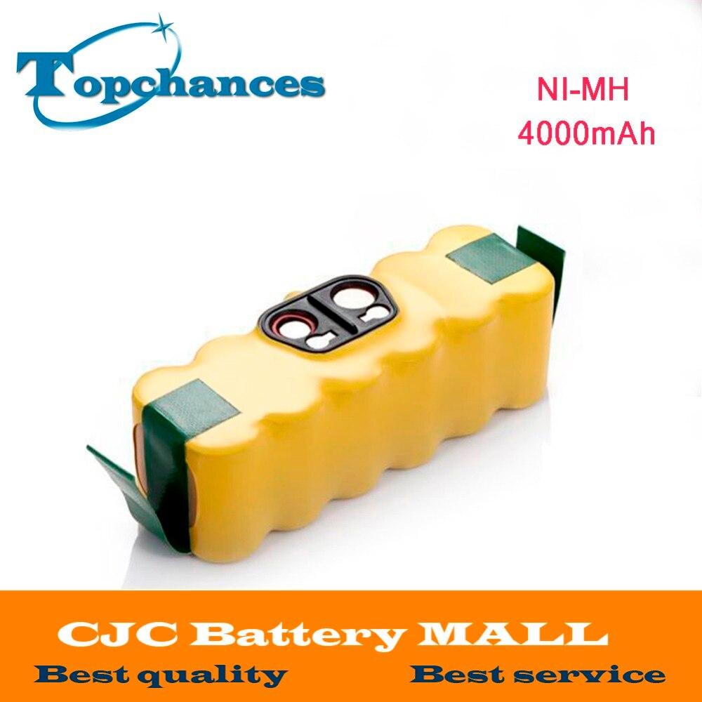 Neue 4000 mah NI-MH Vakuum Batterie für iRobot Roomba 500 560 530 510 562 550 570 581 610 650 790 780 532 760 770 batterie robotik