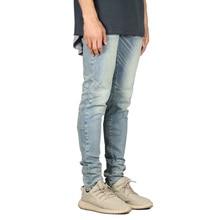 Мужские джинсы модные Стрейчевые дизайнерские обтягивающие джинсы