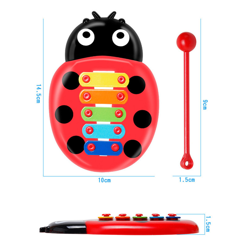 1PC Musical Instrument Toy Baby Colorful Ladybird Baby Kid 8-Note Xylophone Musical Toys Wisdom Devel A1 Sale