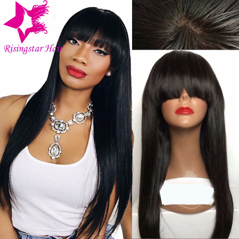 15a virgin brazilian glueless straight full lace human hair wig ...