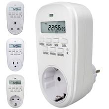 Цифровой таймер Энергосбережение Регулируемая программируемая Настройка часов/время включения/выключения EU/US/UK вилка кухонный таймер розетка