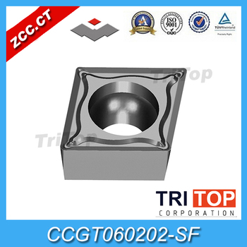 10pcs/lot ZCC.CT nc-TIAIN / PVD lathe cutting tools YNG151C CCGT060202-SF Cemented carbide general turning inserts