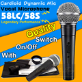 Free Shipping SM 58 58LC Vocal Dynamic Microphone Professional Switch Wired Microphone SM58LC SM58S Karaoke Microfone Mike Mic
