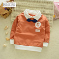 Casual T-shirt Girls Boys Clothes Cotton Korean Letter Long Sleeve Outerwear Top Tee Fashion Kids Clothing Autumn Spring style