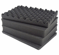 3pcs pluck foam 450*380*50mm + 1pc solid foam 450*380*10mm for tool case tool box