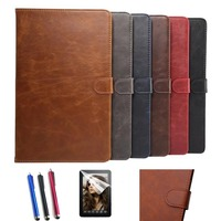 New Screen Film Stylus New Fashion Stand Leather Case Cover For Samsung Galaxy Tab A6 A