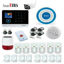 SmartYIBA Wireless Wifi GSM GPRS Android IOS APP Control Home Burglar Security Alarm System Outdoor Solar