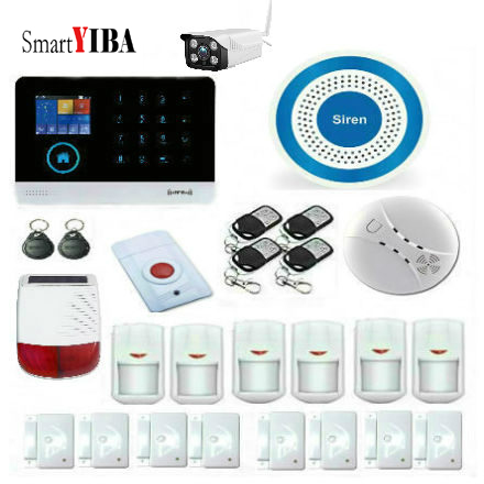 SmartYIBA Wireless Wifi GSM GPRS Android IOS APP Control Home Burglar Security font b Alarm b