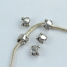35 pcs alloy beads crab charm tibetan silver diy beads for European bracelet jewelry making 1836